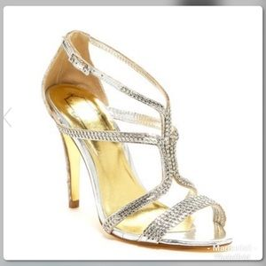 Ted Baker Tilbey silver strappy sandals US 6.5